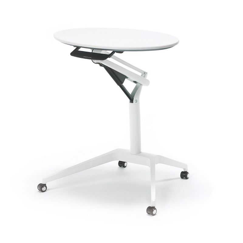 OKAMURA Risefit Desk with White Leg