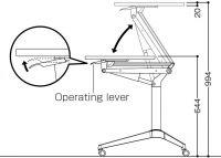 OKAMURA Risefit Desk with Silver Leg