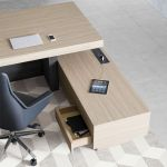 B101 Office Desk with opem panel