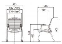 OKAMURA CONTESSA Meeting Polished Frame Chair