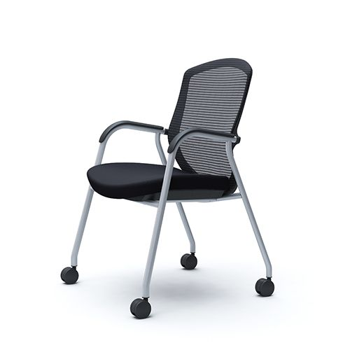 OKAMURA CONTESSA Meeting Silver Frame Chair