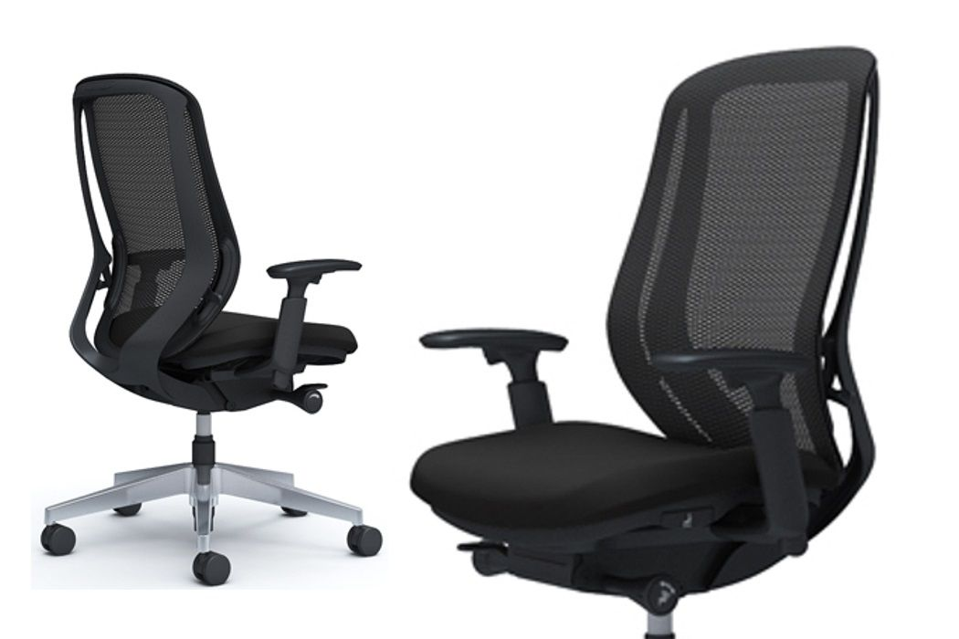 OKAMURA SYLPHY Polished Base Black Chair