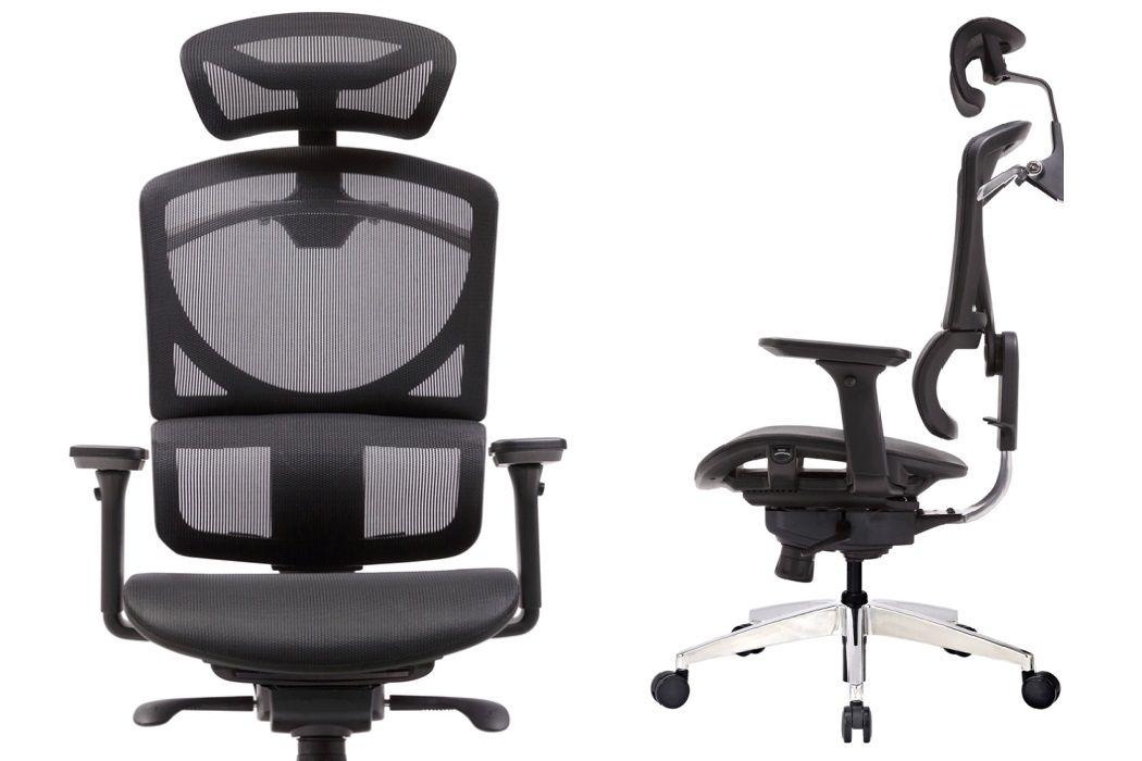 Ergonomická Židle k Počítači ZERO s Černou Síťovinou
