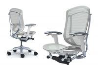 Židle Okamura Contessa Seconda Bílá kostra Světle šedá Síťovina