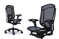 OKAMURA CONTESSA 2 Black Frame Black mesh Chair
