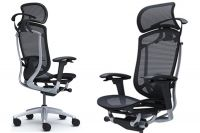 Okamura Contessa Seconda Black Mesh Silver Chair