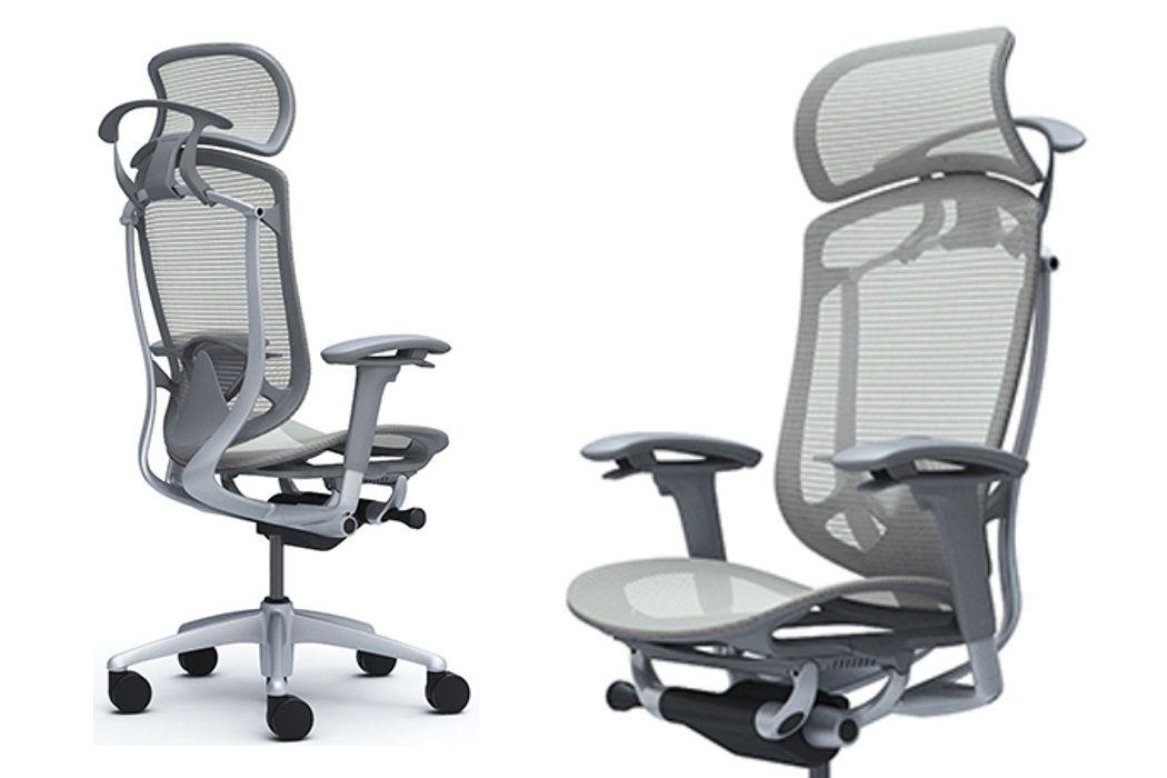 OKAMURA CONTESSA SECONDA Grey shell Light grey mesh Chair