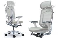 OKAMURA CONTESSA SECONDA White Body Light grey Cushion Seat Chair
