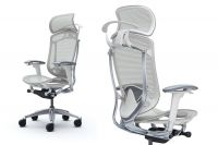 Okamura Contessa Seconda White body Light grey Mesh Chair