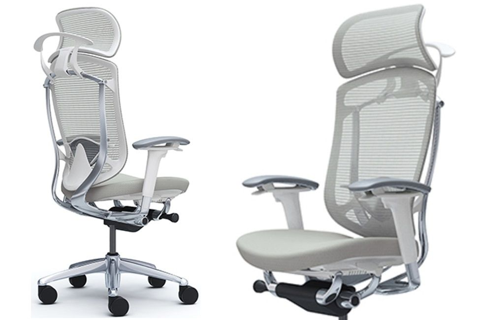 OKAMURA CONTESSA SECONDA White shell Light grey Cushion Chair