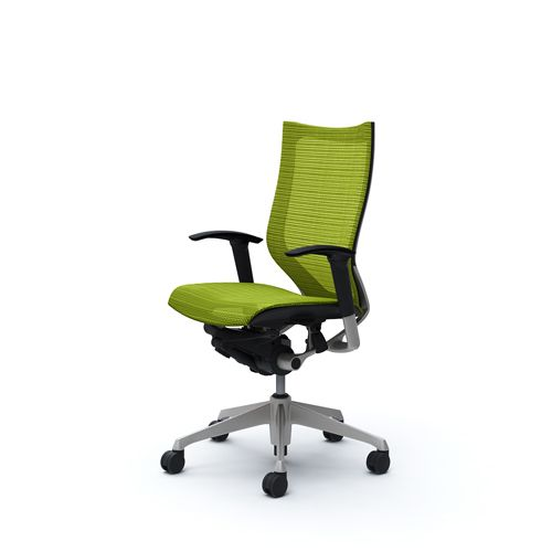 OKAMURA CP Lime green Mesh Chair
