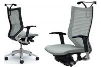 OKAMURA CP Silver frame Grey Cushion Seat Chair