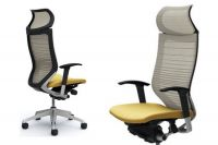 OKAMURA CP White Gradated Mesh Chair Beige seat