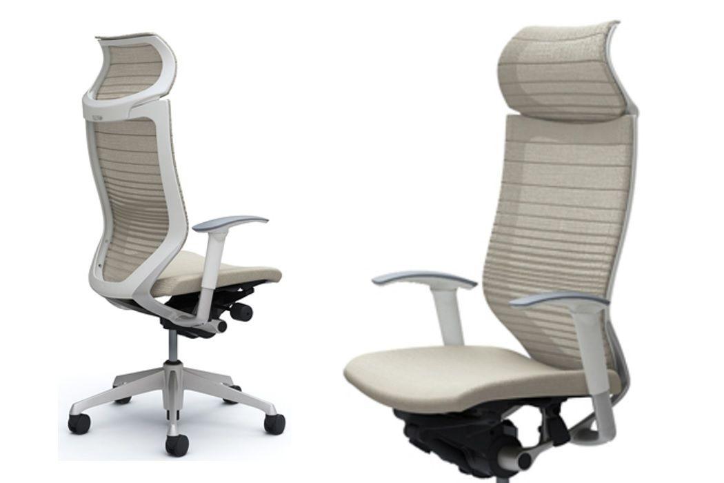Okamura CP Gradated White Mesh Chair