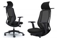 OKAMURA SYLPHY Black Chair Black Base