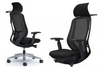 OKAMURA SYLPHY Black Chair Polished Base