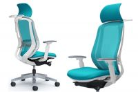 OKAMURA SYLPHY Blue Green Chair White shell