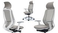 OKAMURA SYLPHY Grey Chair White shell