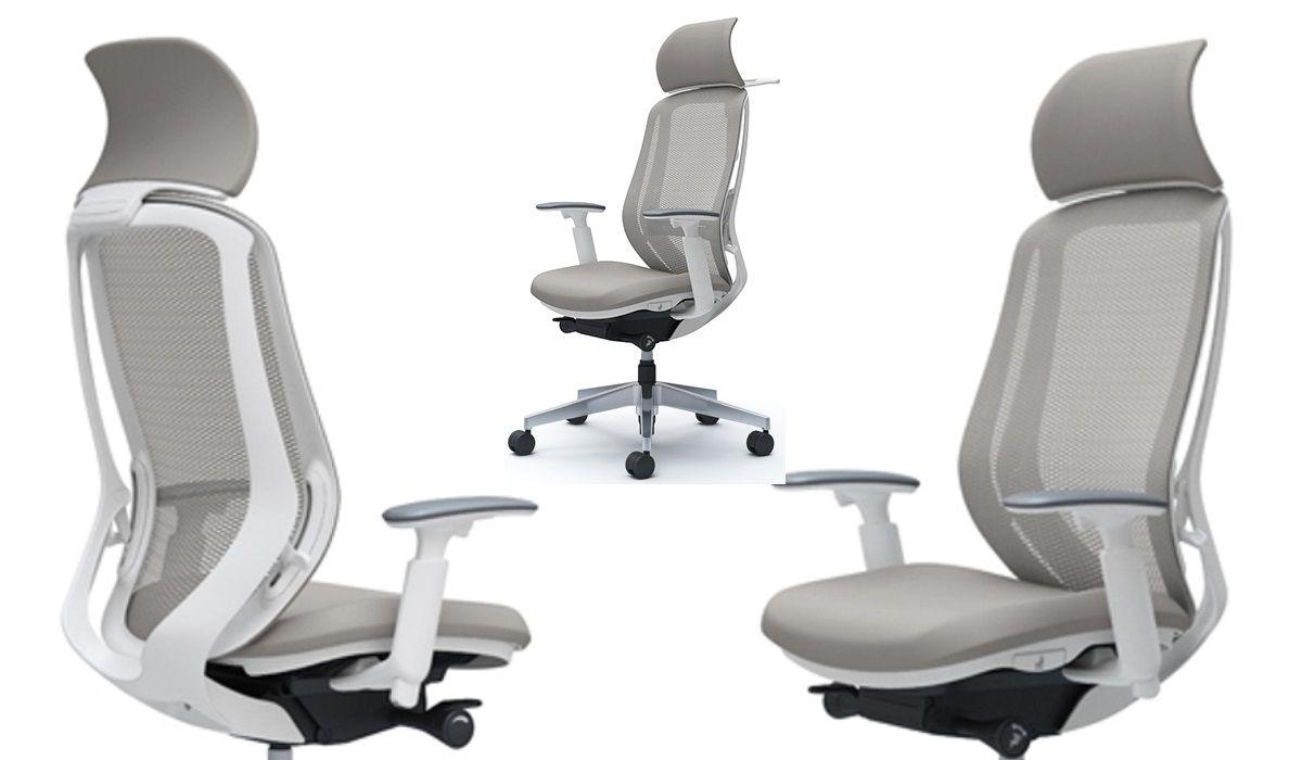 Okamura SYLPHY Grey mesh White shell Chair