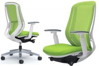 OKAMURA SYLPHY Lime Green mesh White body Chair