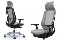 OKAMURA SYLPHY light grey mesh Back black Body Chair