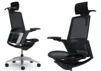 OKAMURA FINORA Chrome frame Black body Chair Black mesh