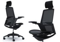 FINORA Black frame Black base Chair