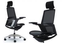 FINORA Chrome frame Black body Chair