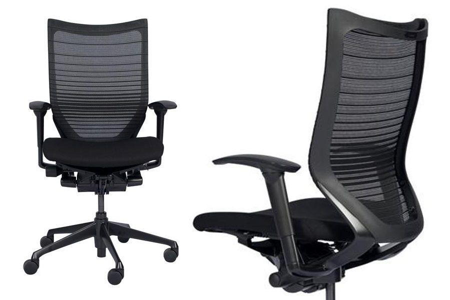 OKAMURA CP Black frame Black Mesh Chair