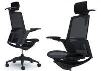 OKAMURA FINORA Black frame Black base Chair Black mesh