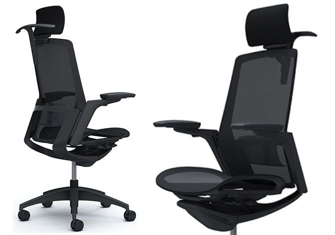OKAMURA FINORA Black frame Black base Chair