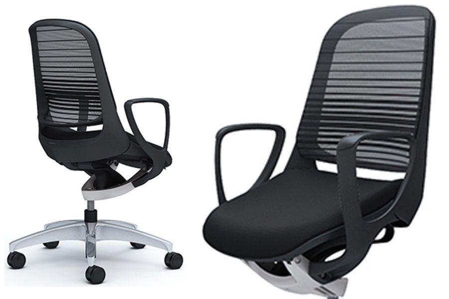 OKAMURA LUCE Black body Black Mesh Chair