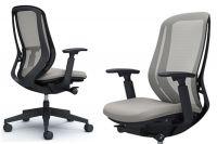OKAMURA SYLPHY Black Base Light Grey Chair