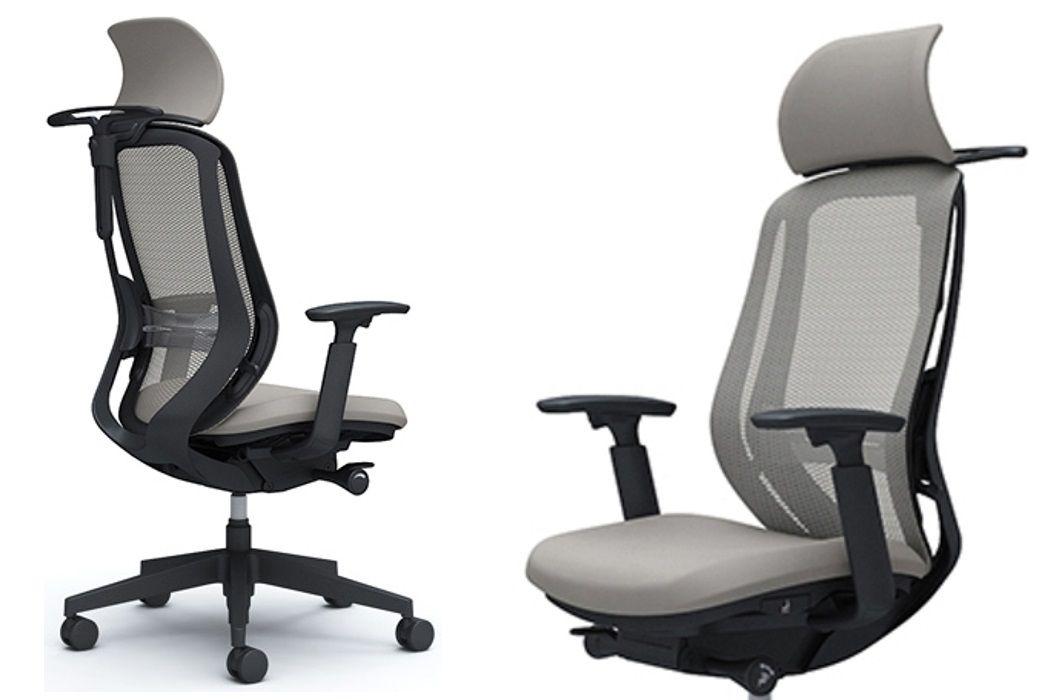 OKAMURA SYLPHY Light Grey mesh Chair Black base