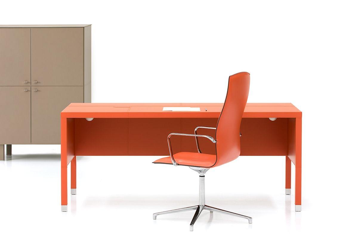 L100 Leather Executive Desk