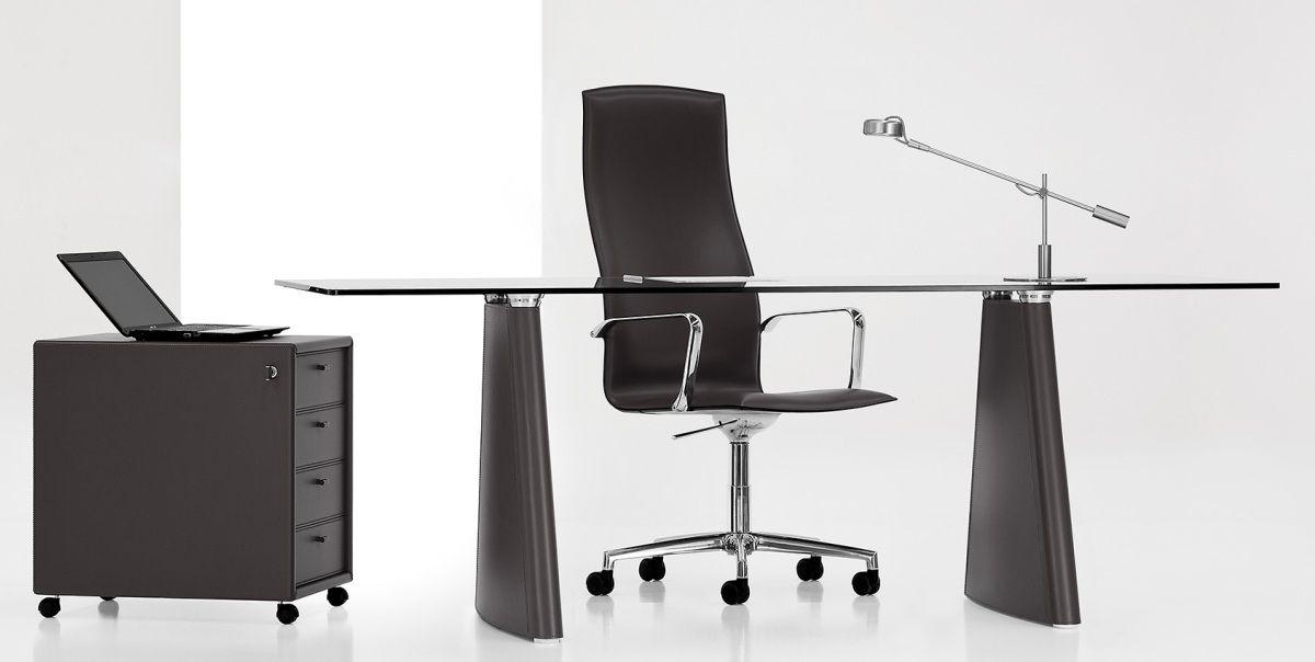 L301 Glass Top Office Desk