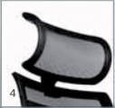 ErgoMedic 100-1 Backrest in black net