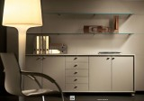 Leather cabinets and containers