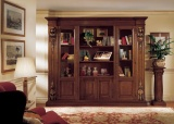 Bookcase with 4 doors 277x57x240, V4