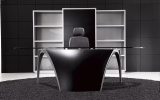 Design Furniture LUNA, black leather