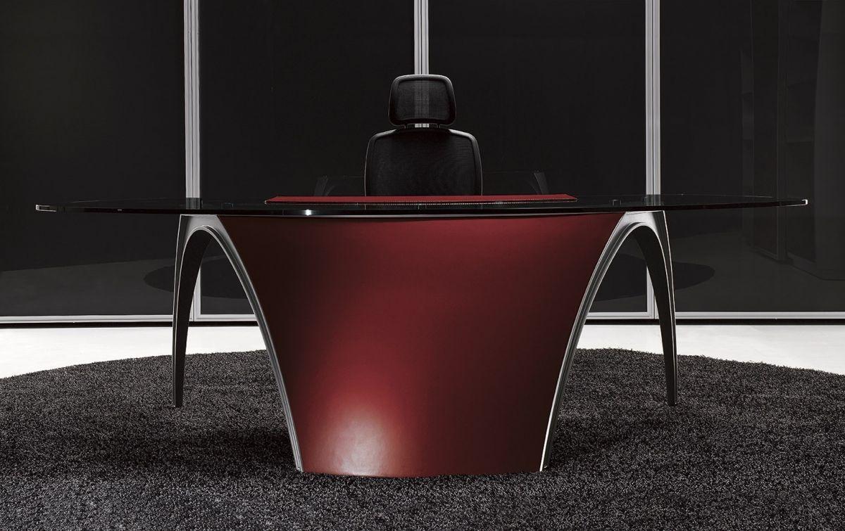 Design Office Furniture LUNA, red leather