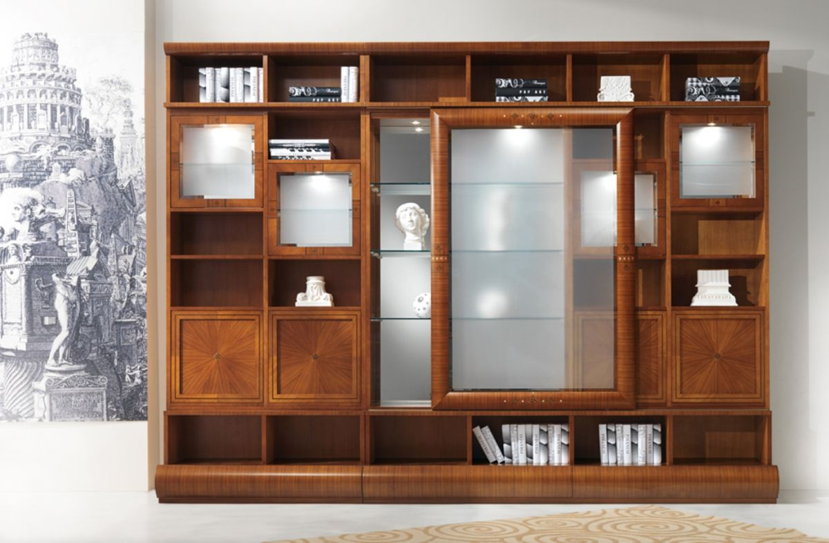Modular Glass Bookcase POIS