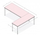 Desk with Extension BE