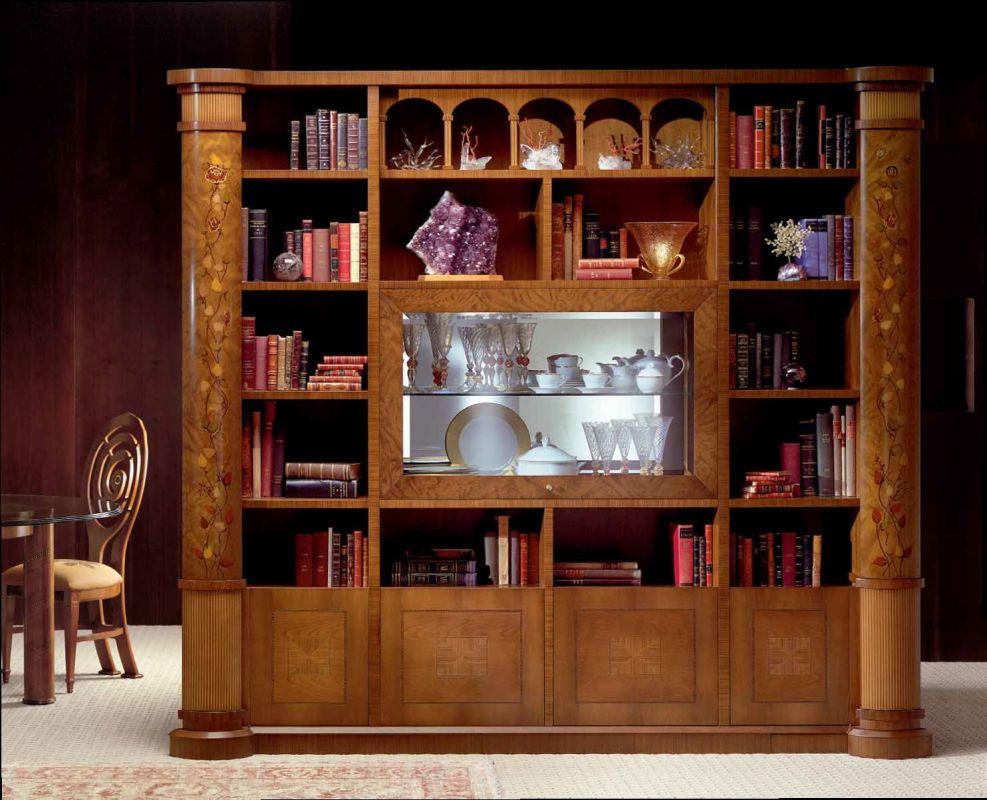 Glass Cabinet Bookcase ZEBRANO